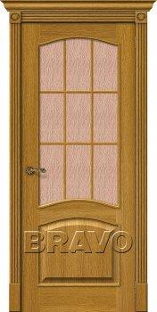 Межкомнатная дверь Вуд Классик-33 (Капри-3), Natur Oak фото