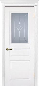 Межкомнатная дверь ТЕКОНА Смальта 01 Молочный ral 9010 фото