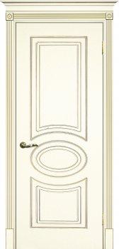 Межкомнатная дверь ТЕКОНА Смальта 03 Слоновая кость ral 1013 патина золото фото