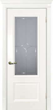 Межкомнатная дверь ТЕКОНА Смальта 07 Молочный ral 9010 фото