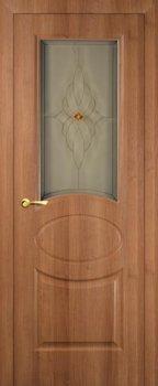 Межкомнатная дверь МАРИАМ Алекс Орех карамельный фото