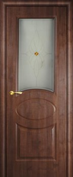 Межкомнатная дверь МАРИАМ Алекс Орех памплона фото