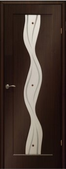 Межкомнатная дверь МАРИАМ Вираж Венге  (Эбен) фото