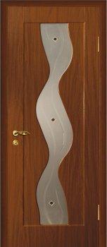 Межкомнатная дверь МАРИАМ Вираж Итальянский орех фото