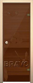 Межкомнатная дверь Кноб Е, Бронза тонированное фото
