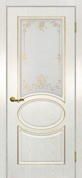 Межкомнатная дверь МАРИАМ Сиена-1 патина Белый  золото фото