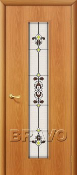 Межкомнатная дверь 23Х, Л-12 (МиланОрех) фото