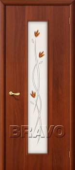 Межкомнатная дверь 22Х, Л-11 (ИталОрех) фото
