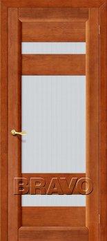 Межкомнатная дверь Вега-2 (ПО), Т-31 (Темный Орех) фото