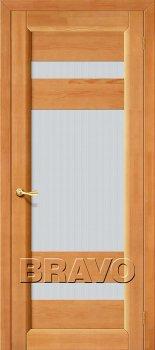 Межкомнатная дверь Вега-2 (ПО), Т-30 (Светлый Орех) фото