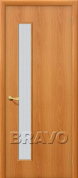 Межкомнатная дверь Гост ПО-1, Л-12 (МиланОрех) фото