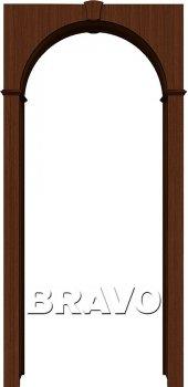 Межкомнатная дверь Браво, Ф-17 (Шоколад) фото