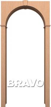 Межкомнатная дверь Браво, Ф-01 (Дуб) фото