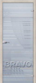 Межкомнатная дверь Грация, Белое Сатинато фото