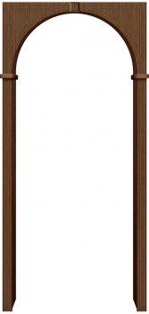 Межкомнатная дверь Бравo, Ф-11 (Орех) фото