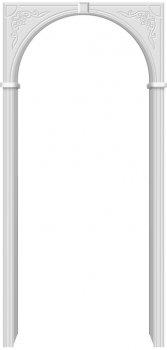 Межкомнатная дверь Муза, П-23 (Белый) фото