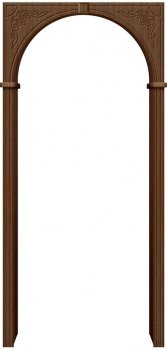 Межкомнатная дверь Муза, Ф-11 (Орех) фото