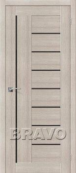 Межкомнатная дверь Порта-29, Cappuccino Veralinga/Black Star фото