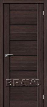 Межкомнатная дверь Порта-22, Wenge Veralinga/Black Star фото