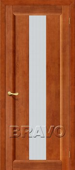 Межкомнатная дверь Вега-18, Т-31 (Темный Орех) фото