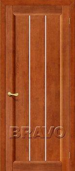 Межкомнатная дверь Вега-19, Т-31 (Темный Орех) фото