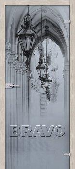 Межкомнатная дверь Аркада Люкс, Белое Сатинато фото