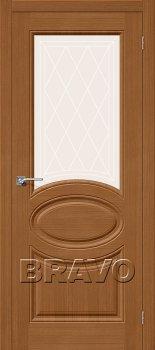 Межкомнатная дверь Статус-21, Ф-11 (Орех) фото