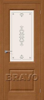Межкомнатная дверь Статус-13, Ф-11 (Орех) фото