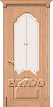 Межкомнатная дверь Афина, Ф-01 (Дуб) фото