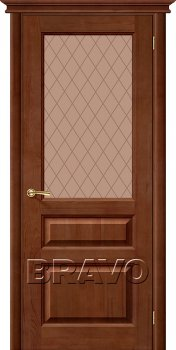 Межкомнатная дверь М5, Т-06 (Темный Лак) фото