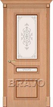 Межкомнатная дверь Стиль, Ф-01 (Дуб) фото