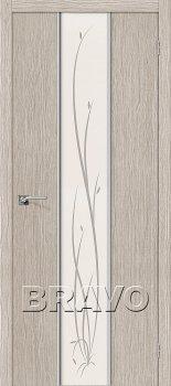 Межкомнатная дверь Глейс-2 Twig, 3D Cappuccino фото