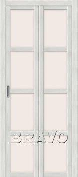 Межкомнатная дверь Твигги V4, Bianco Veralinga фото