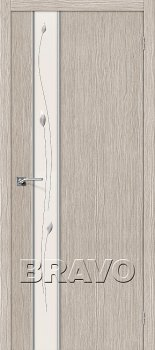 Межкомнатная дверь Глейс-1 Sprig, 3D Cappuccino фото