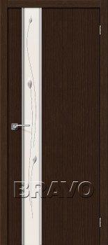 Межкомнатная дверь Глейс-1 Sprig, 3D Wenge фото