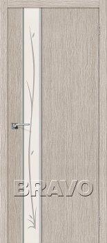 Межкомнатная дверь Глейс-1 Twig, 3D Cappuccino фото