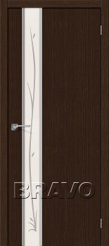 Межкомнатная дверь Глейс-1 Twig, 3D Wenge фото