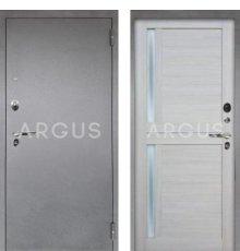 Дверь Аргус Люкс ПРО Мирра Буксус / Серебро Антик