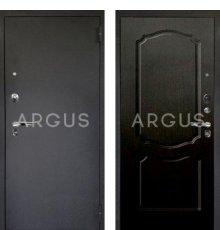Дверь Аргус Люкс ПРО Сонет Венге Тисненый / Черный Шелк