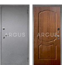 Дверь Аргус Люкс ПРО Сонет Дуб Золотой / Серебро Антик