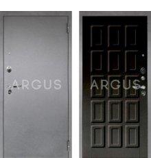 Дверь Аргус Люкс ПРО Шоколад Венге Тисненый / Серебро Антик