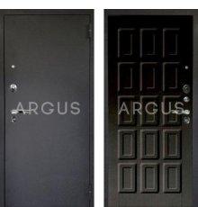 Дверь Аргус Люкс ПРО Шоколад Венге Тисненый / Черный Шелк