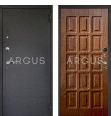 Дверь Аргус Люкс ПРО Шоколад Дуб Золотой / Черный Шелк