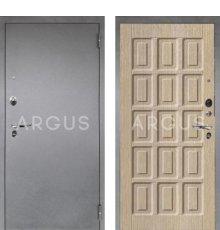 Дверь Аргус Люкс ПРО Шоколад Капучино / Серебро Антик