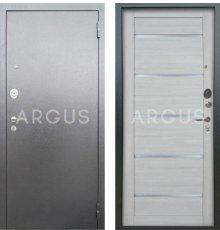 Дверь Аргус Люкс АС Александра Буксус / Серебро Антик фото