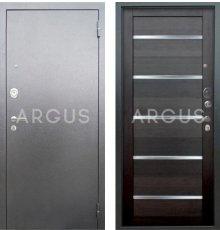 Дверь Аргус Люкс АС Александра Вельвет / Серебро Антик фото