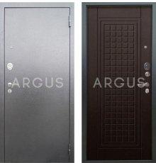 Дверь Аргус Люкс АС Альма Венге / Серебро Антик