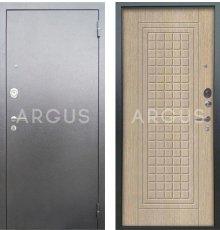 Дверь Аргус Люкс АС Альма Капучино / Серебро Антик