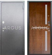 Дверь Аргус Люкс АС Альфред Дуб Золотой / Серебро Антик фото