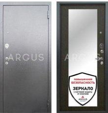 Дверь Аргус Люкс АС Милли Венге / Серебро Антик
